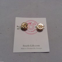 Lizzy J bullet stud gold traditional shiny  finish  earrings USA made image 1