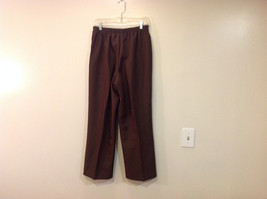 Alfred Dunner Dark Brown Elastic Waist 100% Polyester Casual Pants, Size 14 image 2