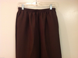 Alfred Dunner Dark Brown Elastic Waist 100% Polyester Casual Pants, Size 14 image 3