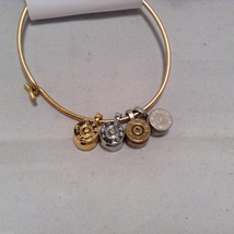 Lizzy J bullet charm bracelet, shiny gold silver vintage gold and silver image 1