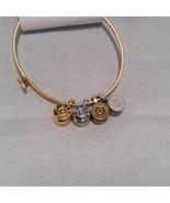 Lizzy J bullet charm bracelet, shiny gold silver vintage gold and silver - $39.59