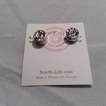 Lizzy J bullet stud silver traditional finish  earrings USA made image 1