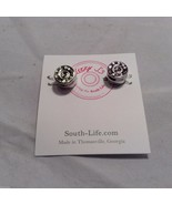 Lizzy J bullet stud silver traditional finish  earrings USA made - $25.73