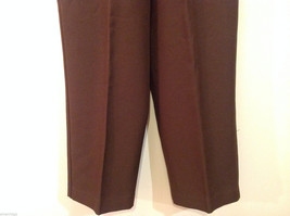 Alfred Dunner Dark Brown Elastic Waist 100% Polyester Casual Pants, Size 14 image 4