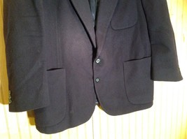 Aldo DiFirenze Black Sports Coat Blazer Dark Purple Satin Inside Size 44 image 3