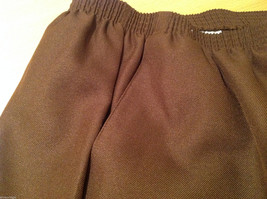 Alfred Dunner Dark Brown Elastic Waist 100% Polyester Casual Pants, Size 14 image 8