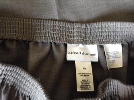 Alfred Dunner Light Gray Dress Pants Elastic Waistband Size 10 image 8