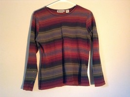 Long Sleeve Aeropostale Striped Shirt 100 Percent Cotton Size Small Multicolored