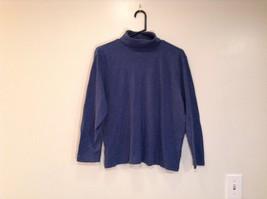Long Sleeve Blue Turtleneck 100 Percent Cotton Top Liz Claiborne Size XL