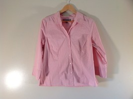 Long Sleeve Button Up Stretch Pink Shirt Size Large Croft and Barrow