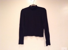 Long Sleeve Black Turtleneck Top Easel Size M Interesting Details on Elbows