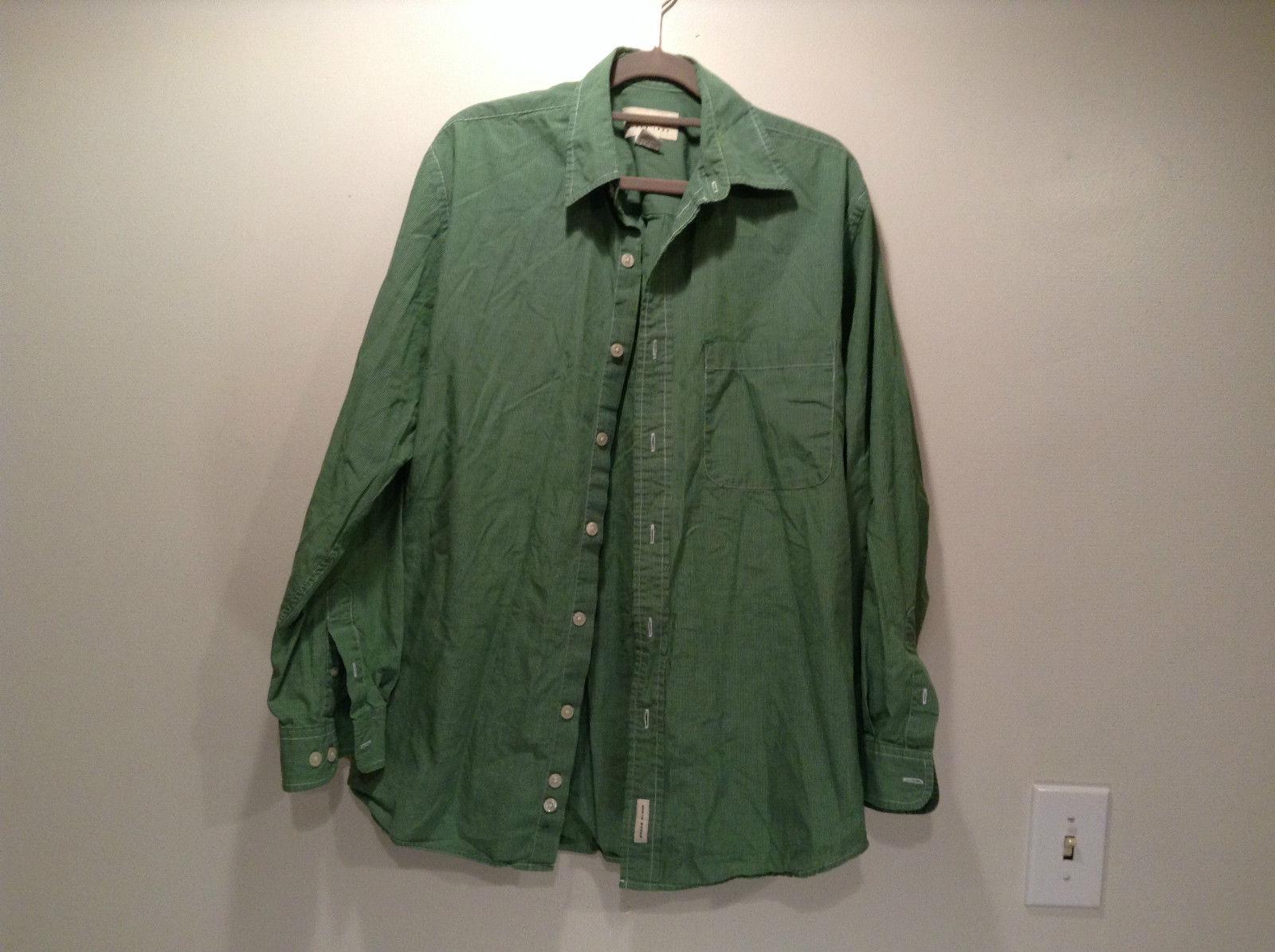 Long Sleeve Green Button Down Eddie Bauer Shirt Size S Reg 100 Percent Cotton