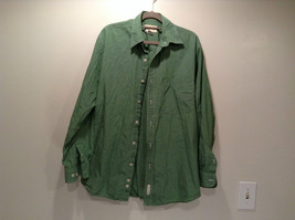 Long Sleeve Green Button Down Eddie Bauer Shirt Size S Reg 100 Percent Cotton