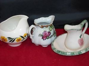 Lot 3 vintage ceramic creamer Pitchers Homer Laughlin