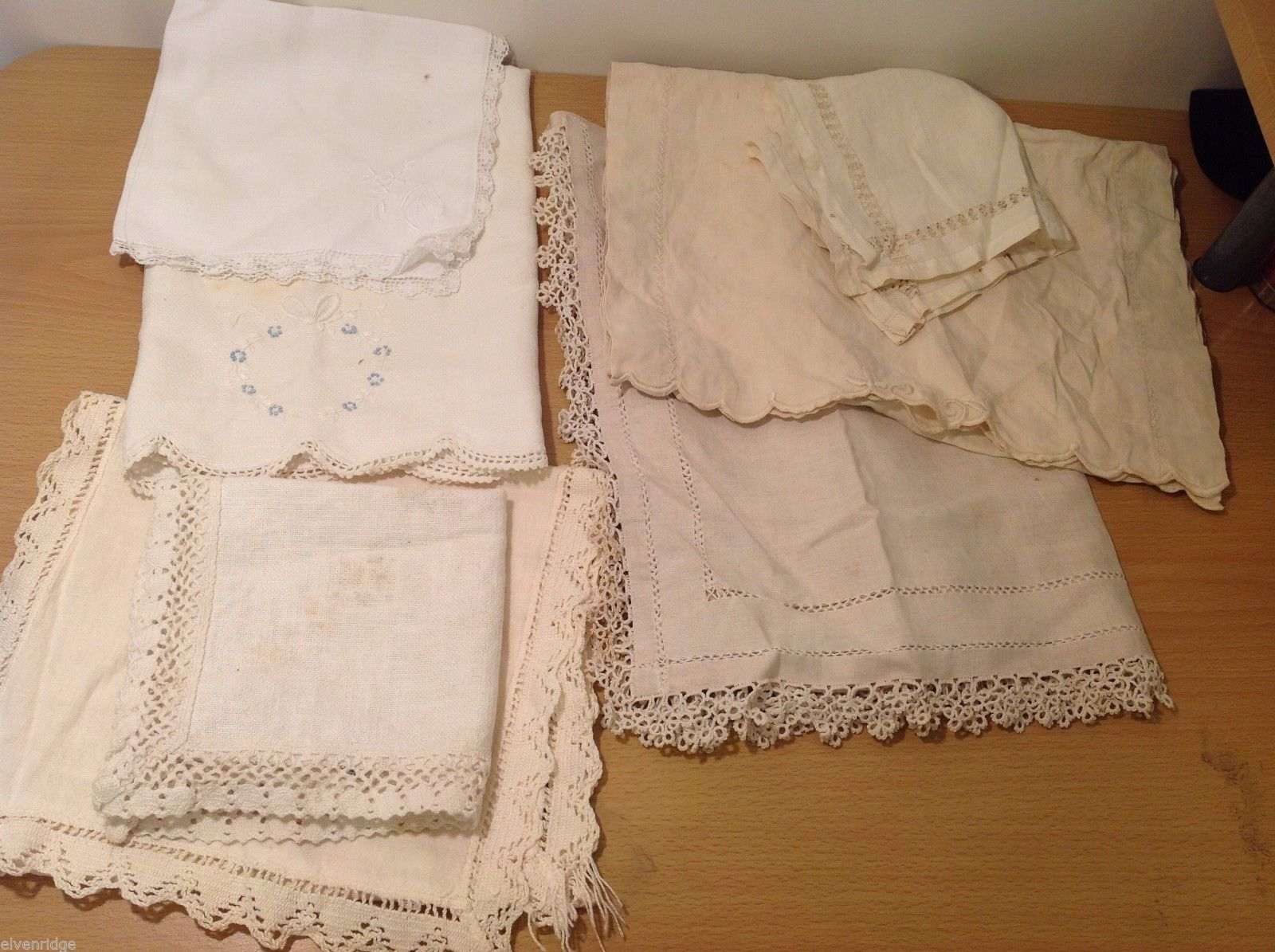 Lot Vintage Table Wear Table Runners Napkins Towel