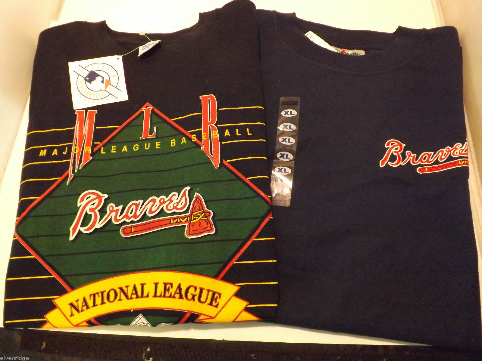Lot of 2 Vintage Atlanta Braves T-Shirts Size XL