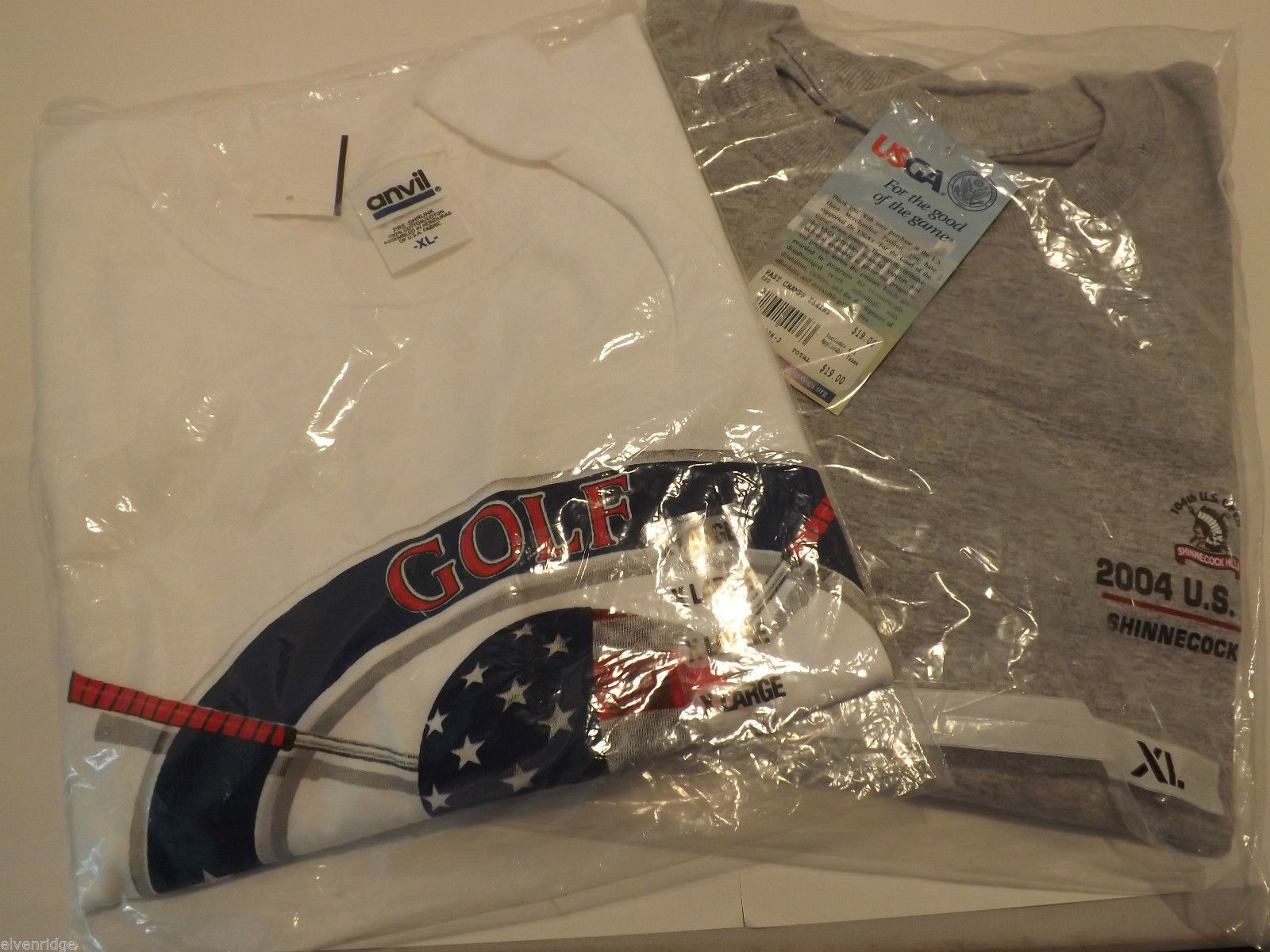 Lot of 2 Golf T-Shirts Still in Packaging Size XL