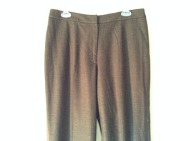 Lands End Size 12 Brown Wool Dress Pants High Quality Fabric image 2