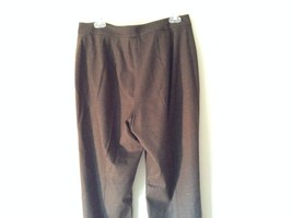 Lands End Size 12 Brown Wool Dress Pants High Quality Fabric image 6