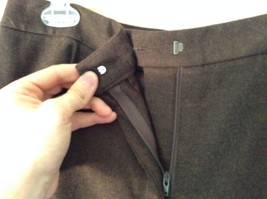 Lands End Size 12 Brown Wool Dress Pants High Quality Fabric image 5