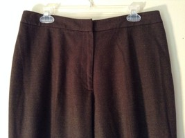 Lands End Size 12 Brown Wool Dress Pants High Quality Fabric image 4