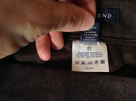 Lands End Size 12 Brown Wool Dress Pants High Quality Fabric image 8