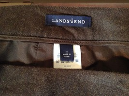 Lands End Size 12 Brown Wool Dress Pants High Quality Fabric image 7