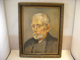 Original Oil Painting by Charles W Quicksell 1933 Portrait of Old Man