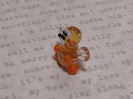 Micro miniature small hand blown yellow and black tiny happy bee  USA  NIB image 2