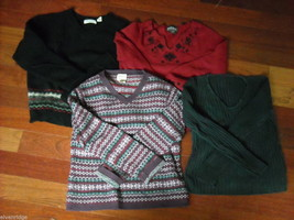 Lot of 4 Winter Women's Tops Long Sleeved Size S/L image 1
