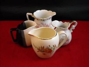 Lot of 4 vintage Creamer pitchers Knowles Anniversary