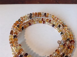 Amber Colored Shiny Beaded Coil Adjustable Bracelet image 4