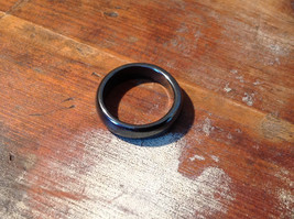 Lovely Hematite Natural Stone Ring Sizes 7.5 and 8.5