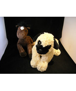 Pair of 2 Stuffed Animals, A Life Size Puppy Dog and Pony - $44.54