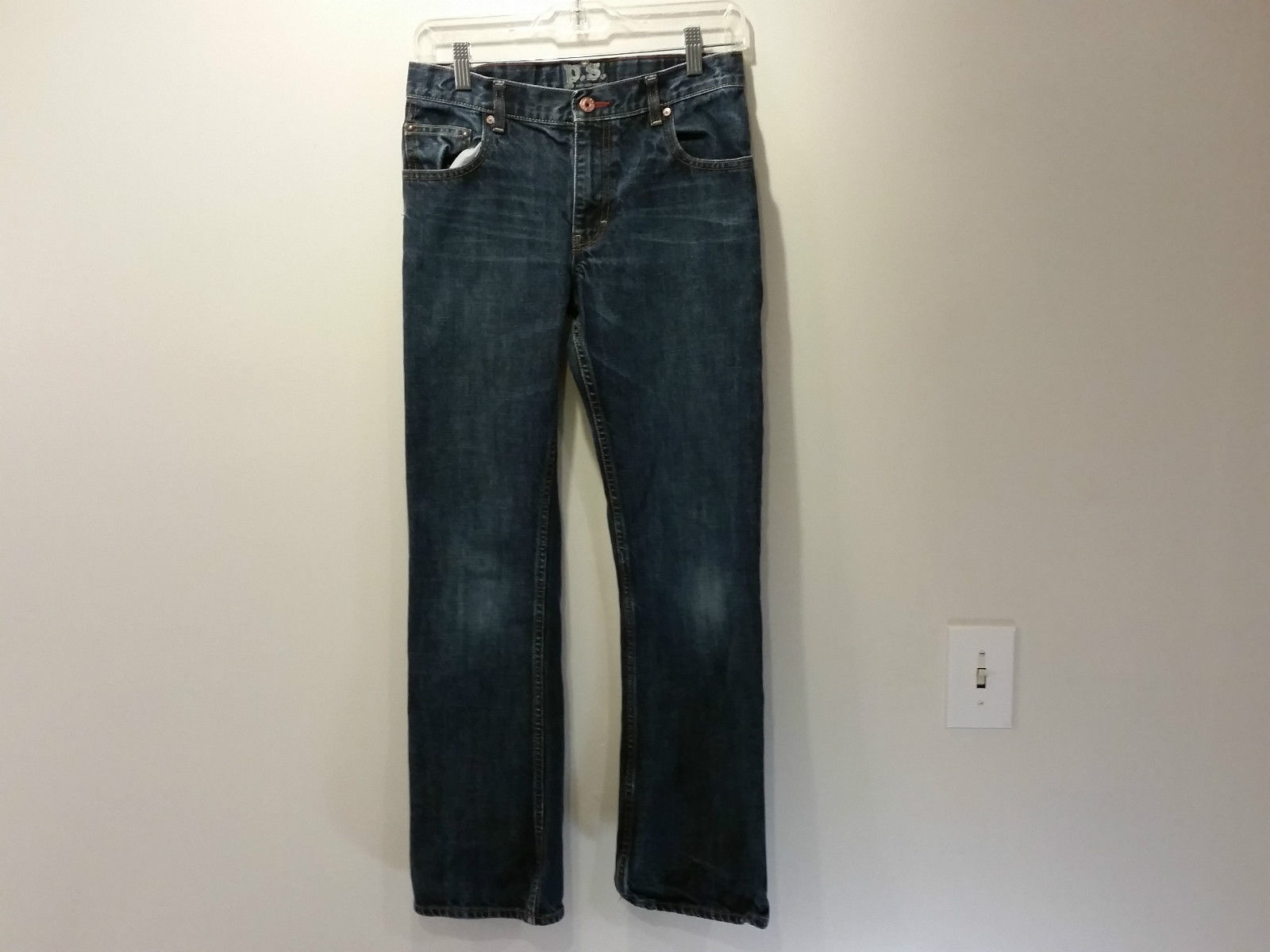 P S for Aeropostale Dark Blue Jeans Size 14R Great Condition Straight Leg