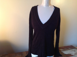 Lovely H and M Long Sleeve Black V Neck Sweater Soft  Made in Cambodia Size M