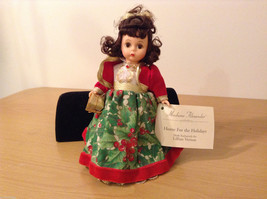 Madame Alexander Collectible Doll Home for the Holidays Christmas themed, no box