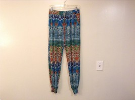 Mad Style One Size Fits Most Wide Leg Multicolored Printed Pants Elastic Waist