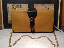 Mad Style NEW Yellow Buckle Roll Three In One Clutch Bag with 3 Different Straps
