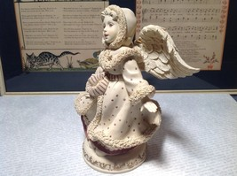 Large Handmade Hand Painted Resin Angel Beige Figurine Candle Holder Emily image 4