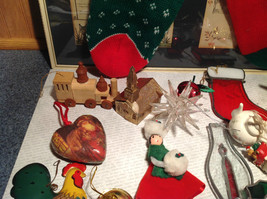 Large Grandma Instant Christmas Lot Two Stockings Many Ornaments AS SHOWN image 8