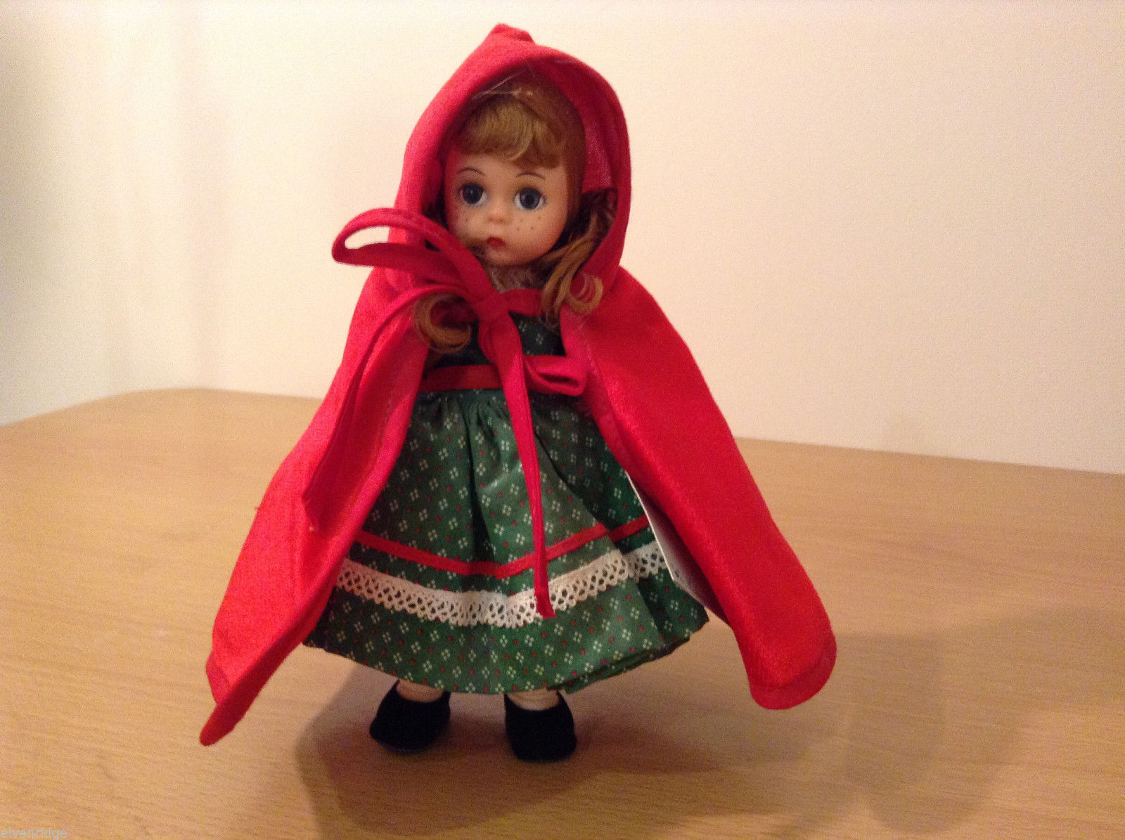 Madame Alexander Collectible Doll Little Red Riding Hood in Green Dress, no box