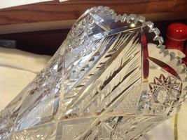 Large Lead  Crystal vase vintage American Brilliant image 2