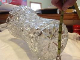 Large Lead  Crystal vase vintage American Brilliant image 3