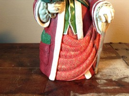 Large Resin Santa Figurine Red with Small Christmas Tree image 3