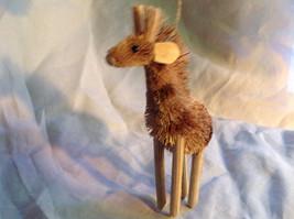 Palm Fiber Giraffe Brush Animal Eco Fiber Sustainable Ornament image 1