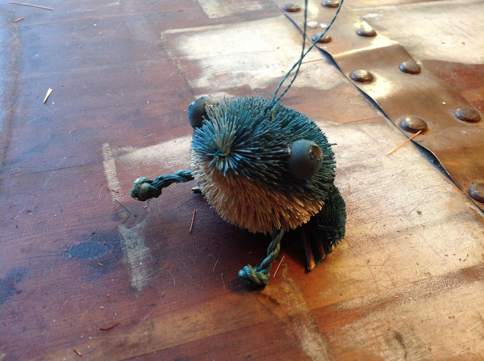 Palm Fiber Green Frog Brush Eco Fiber Sustainable Made in Philippines