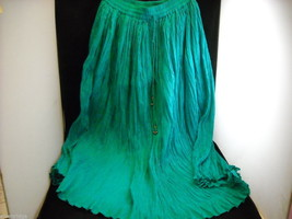 Peasant Style Skirt in Teal with Elastic Waistband