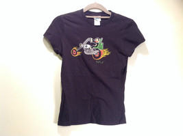 Paul Franke Black Graphic Short Sleeve T Shirt Monkey on Chopper Size Small