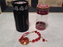 Mandala Ladybug Red Beads Marcella Bracelet Love Fortune Balance Gold Tone  image 1